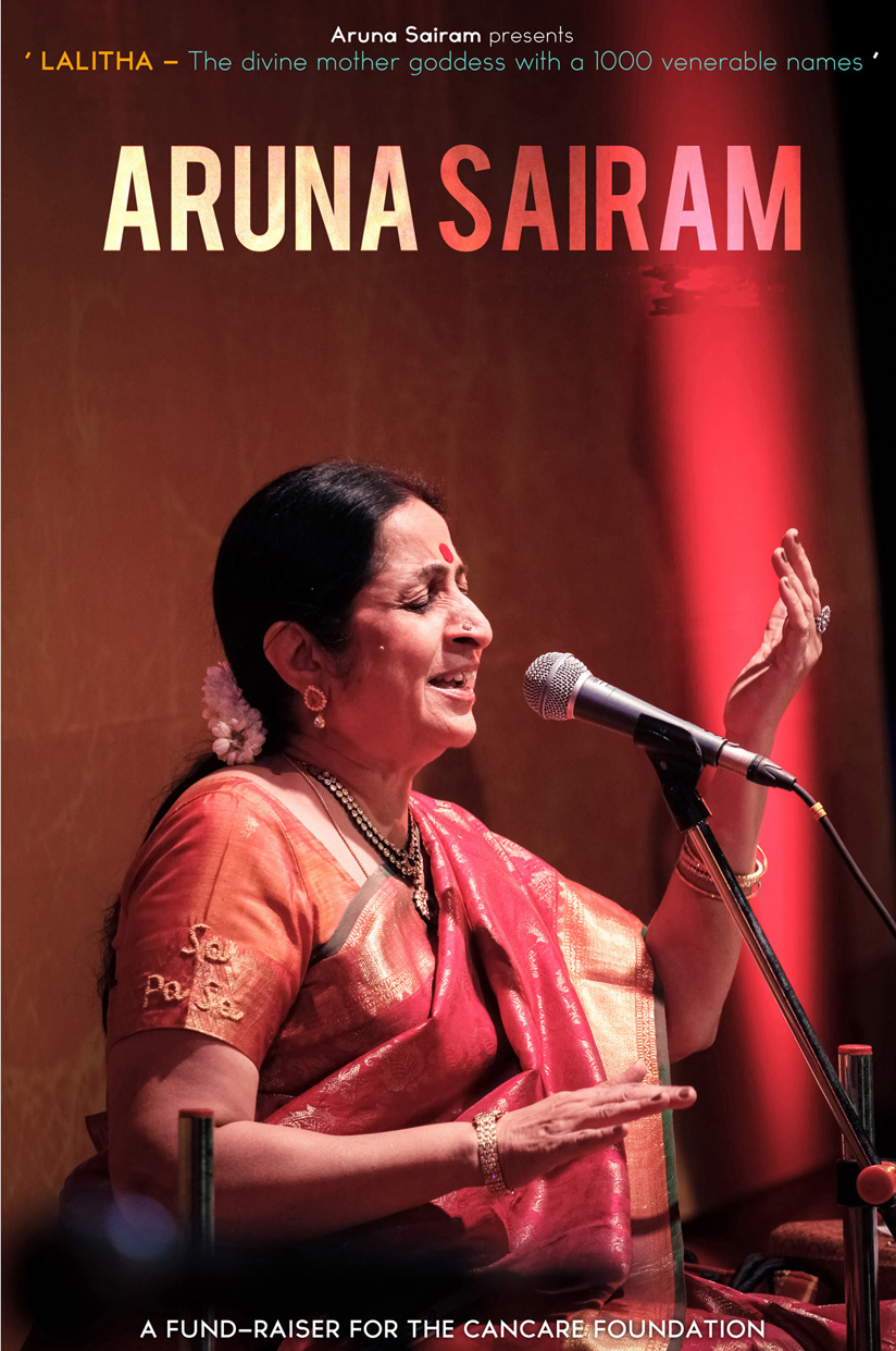 Concert of Aruna Sairam - Lalitha: The Divine Mother with a 1000 Venerable Names